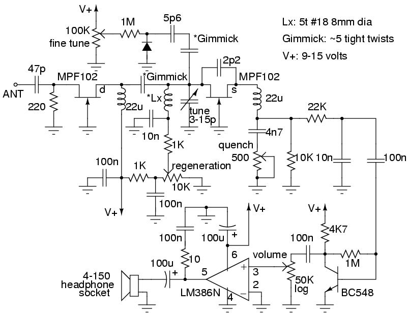 super-regenerative receiver circuit