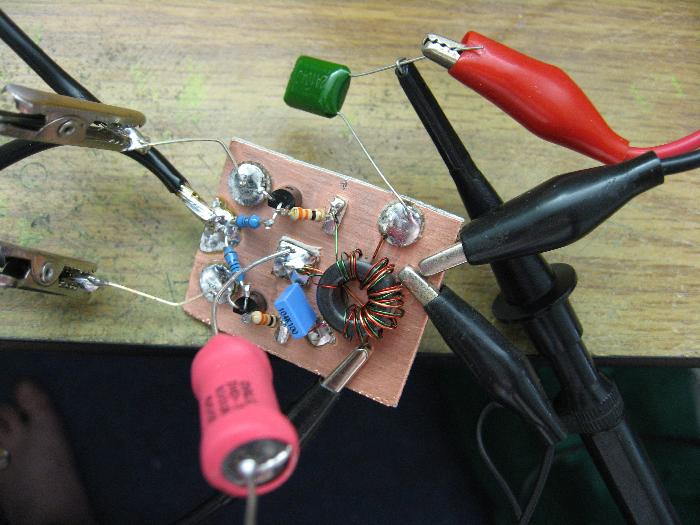 The Buffer Amplifier Under Initial Testing