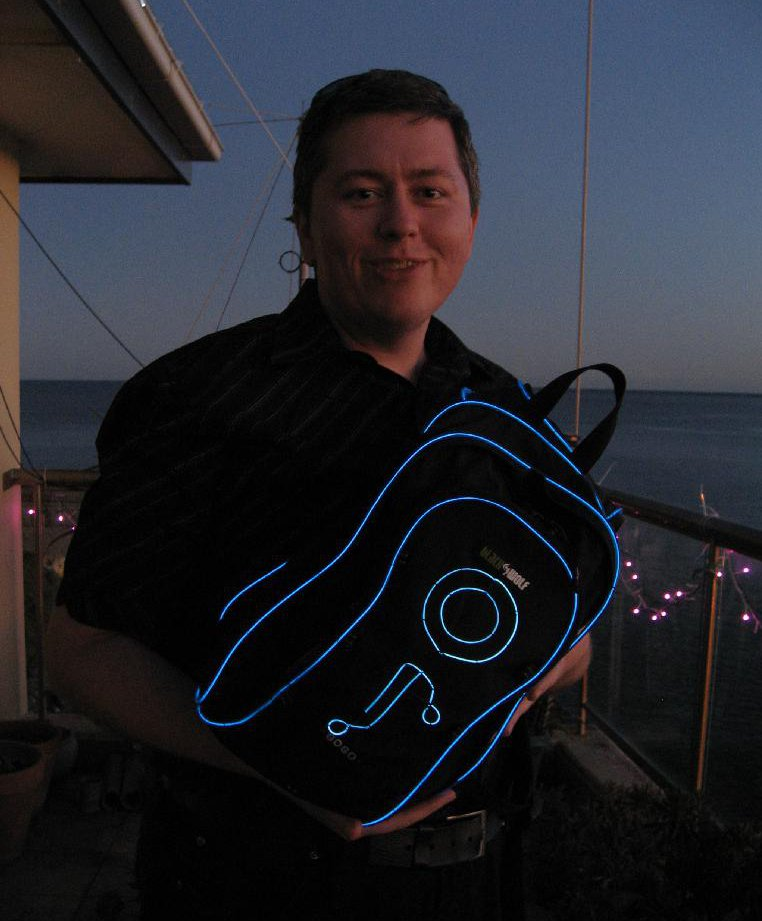Me with the TRON-pak.