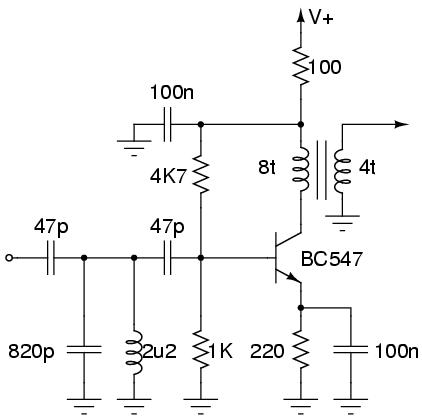 RF front-end amp circuit