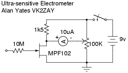 simple FET electrometer circuit