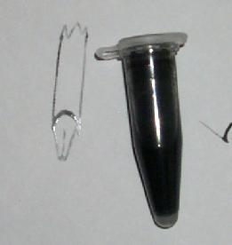 ink and a diagram of the pen construction