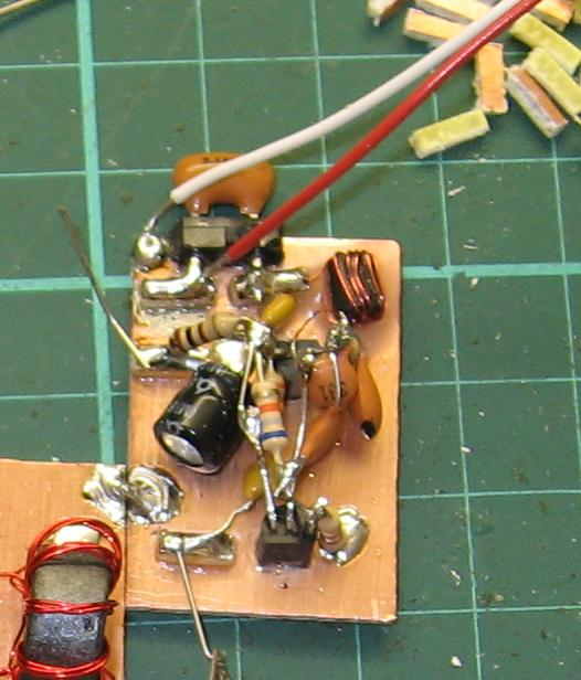 VXO Circuit Detail (Note wax potting and leads off to the tuning gang)