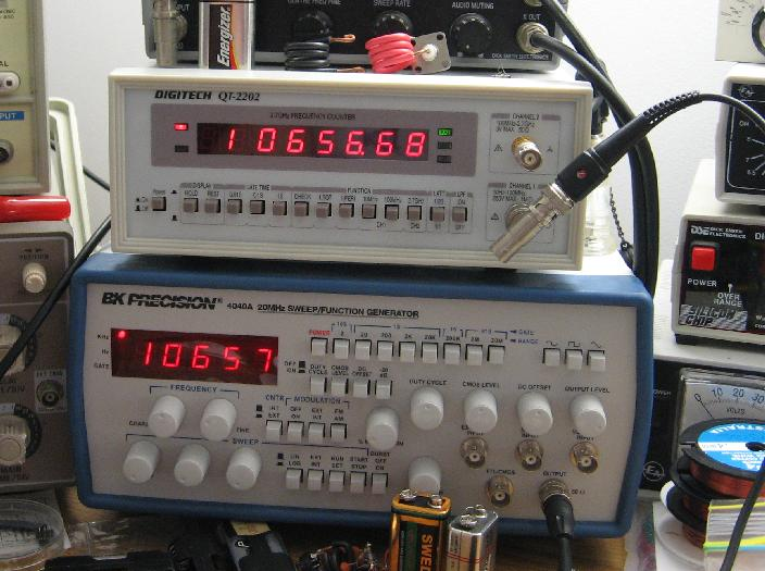 Prototype Locked to Signal Generator