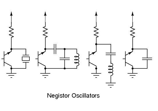 Negistor Oscillator Circuits