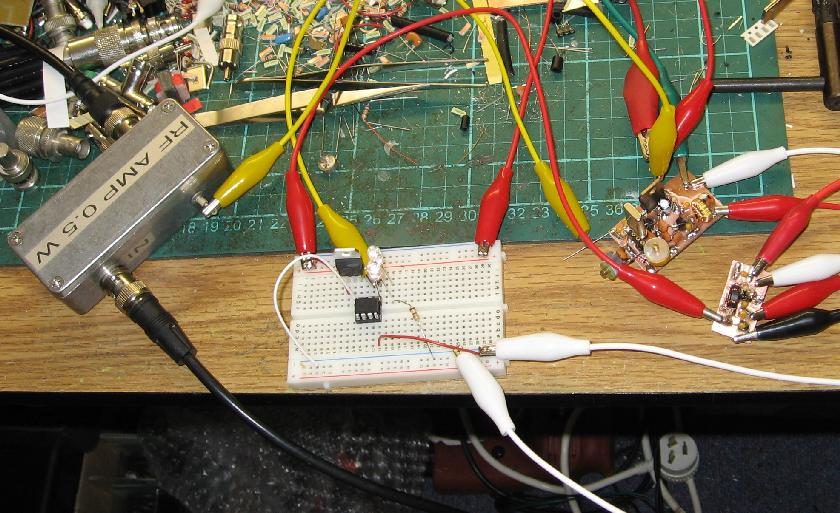 Test Lash-up with Amplifier