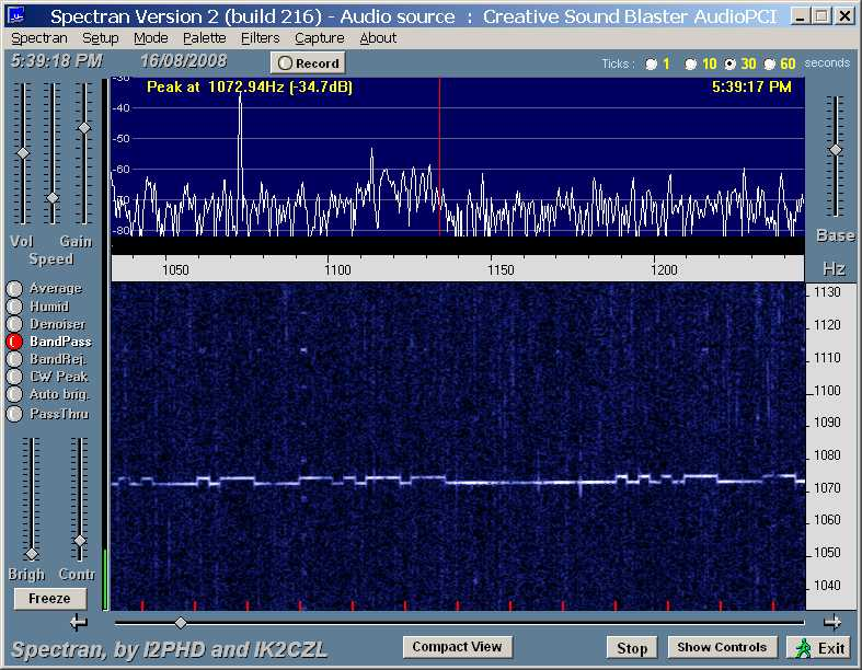 My 25 mW signal 3300 km away