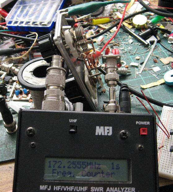 Frequency Counting a VHF Oscillator (Yes, I need to clean up!)